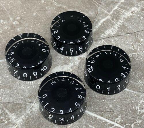 Gitarre Potiknöpfe mit Weiß Zahlen für Gibson Epiphone in Schwarz Farbe