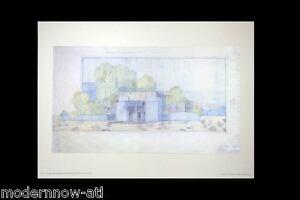 Frank Lloyd WRIGHT Lithograph #'ed LIMITED Ed ~Mojave Desert Cottage 1922 +FRAME