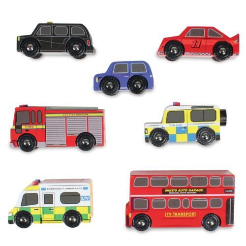 Le Toy Van Pretend Play Wooden Children Educational Toys London Car Vehicle Bus