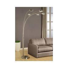 5 Arc Floor Lamp Modern Brushed Steel Light Industrial Lighting w/Dimmer New
