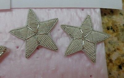 USAF  US ARMY, USN,DRESS WHITE BULLION,GENERAL STARS, 1 PAIR