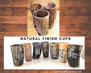 Real-Horn-Mug-Cups-Viking-Mug-Cups-Ale-Beer-Wine-Tankard-Size-5-6-034