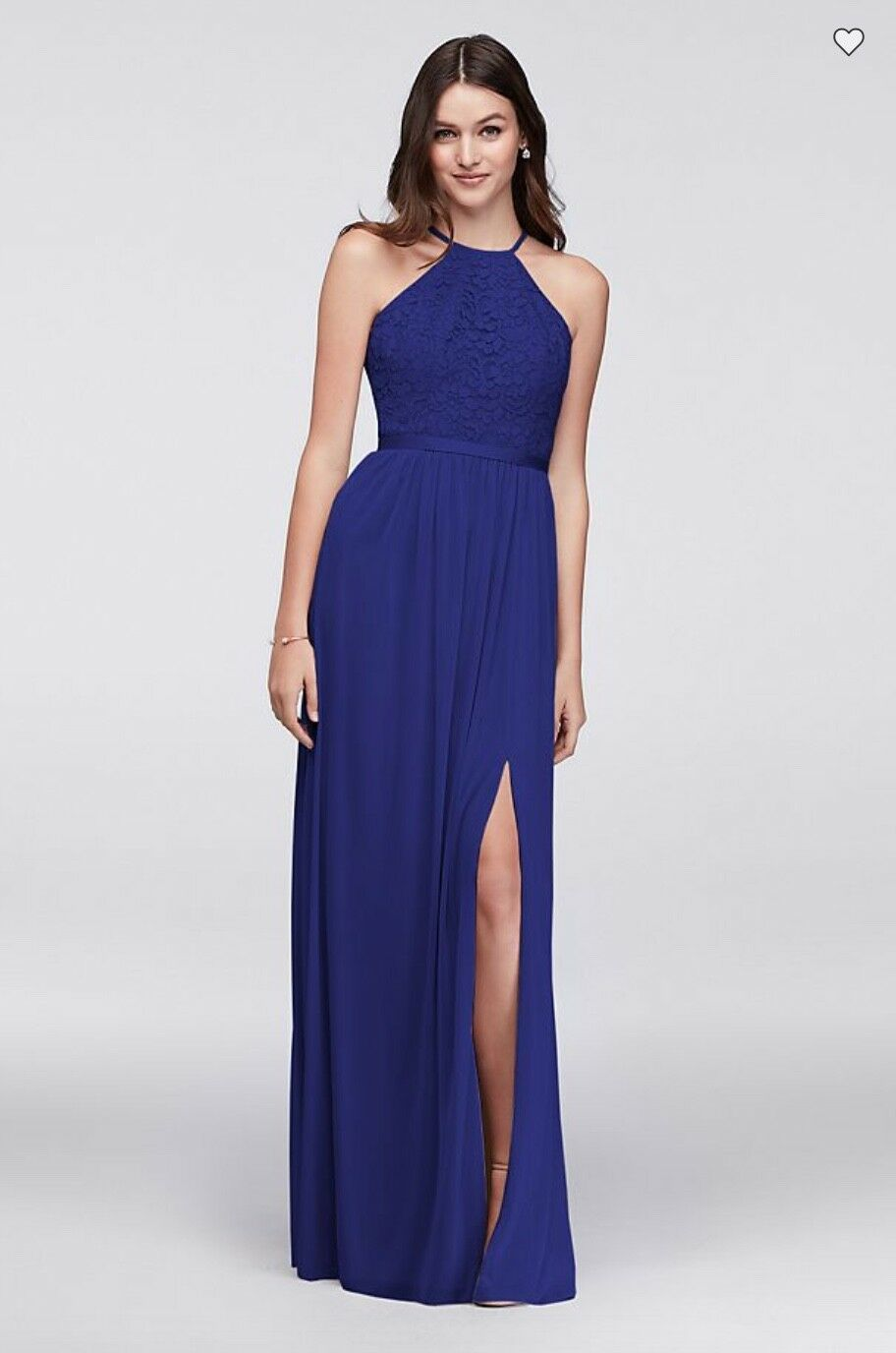 Formal Navy bluee Evening Dress Dress Dress Elegant Brand New with Tags David's Bridal Gown 27c5c8