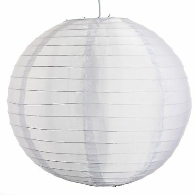 "White Outdoor Nylon Wedding Lanterns 8"", 10"", 12"",14"", 16"", 18"" and 20"" sizes"