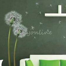 Light Green Dandelion Flowers Wallpaper Wall Stickers Vinyl Decal Home Decor
