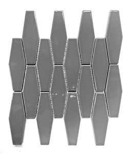 Image Is Loading Elongated Gray Hexagon Porcelain Mosaic Wall Tile Kitchen