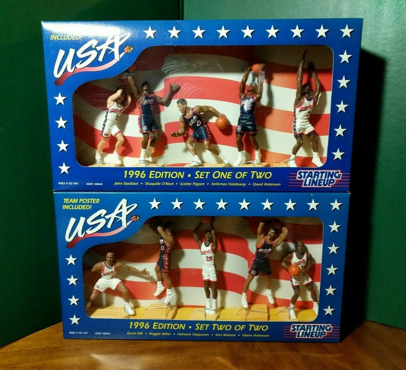 Starting Line Up 1996 USA Olympic Basketball Dream Team Both Sets NRFB NEW