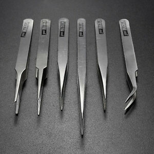 6Pcs-Pro-Anti-Static-Stainless-Steel-Tweezers-Set-Maintenance-Tools