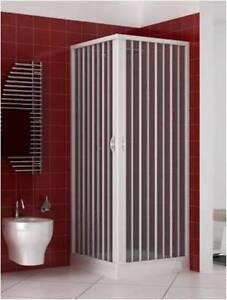 duschkabine in pvc faltwand duschabtrennung duschtrennwand 80x80 cm eckeinstieg ebay. Black Bedroom Furniture Sets. Home Design Ideas