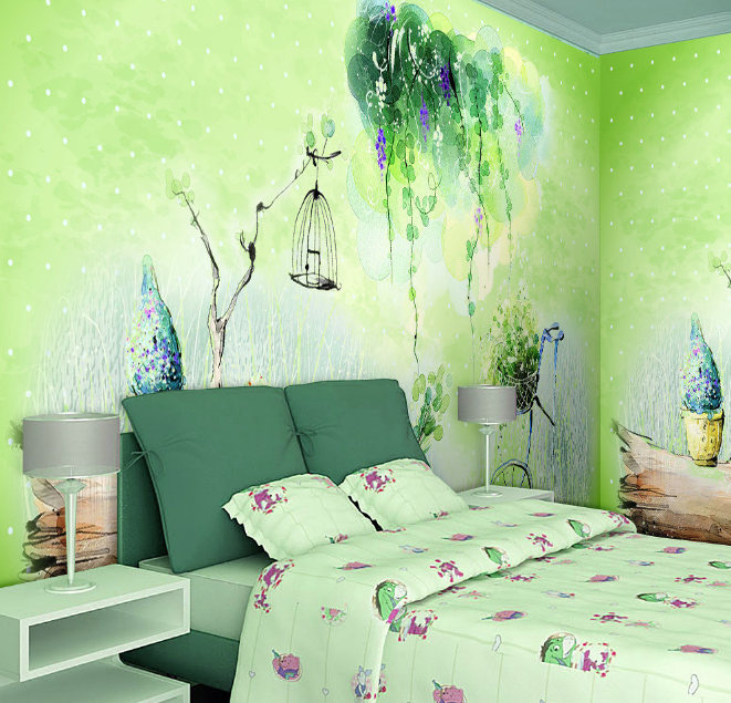 3D Branches Birdcage Bicycle Paper Wall Print Wall Decal Wall Deco Indoor Murals