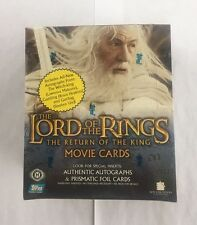Topps LOTR Lord Of The Rings Return Of The King 1st Edition Hobby Box HTF Autos?