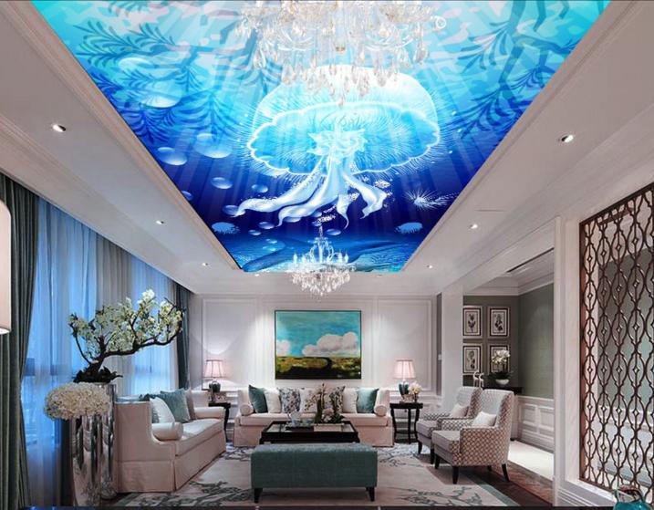 3D Jellyfish Dolphin 7863 Wallpaper Mural Wall Print Wall Wallpaper Murals US