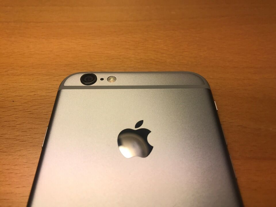 iPhone 6, 128 GB, sort