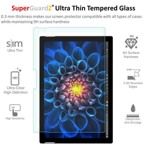 SuperGuardZ® Tempered Glass Screen Protector For Microsoft surface Pro 2017