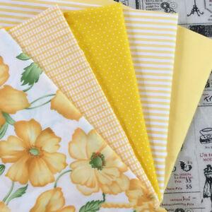 50-160CM-Gelb-Blume-Stoff-Tuch-Floral-Twill-100-Baumwollgewebe-Naehen-Patchwork
