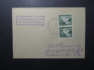 Germany-DDR-1954-Event-Cover-w-Semi-Postal-Pair-Z12222