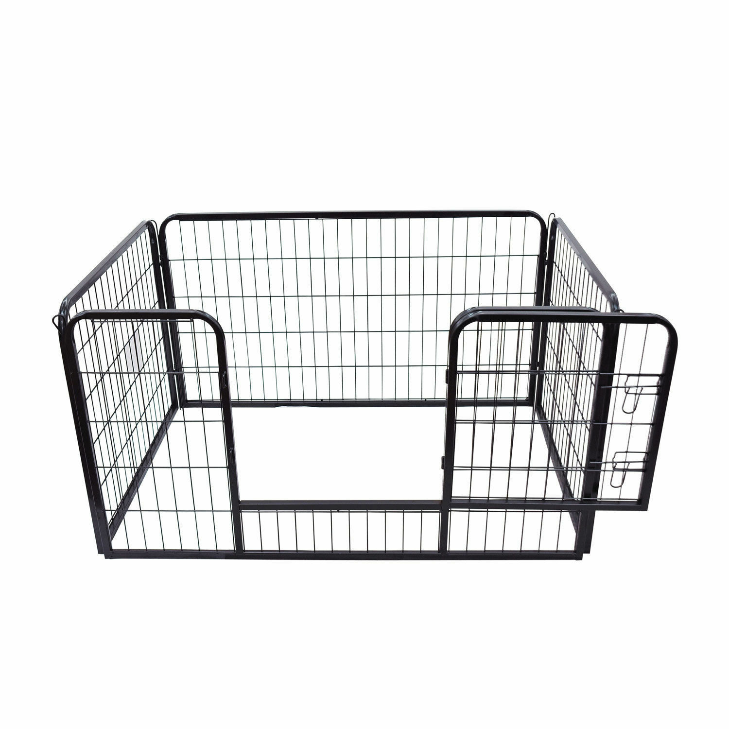 PawHut Pawhut Pet Rabbit Guinea Dog Pig Puppy Play Pen Metal Hutch Cage 125cm
