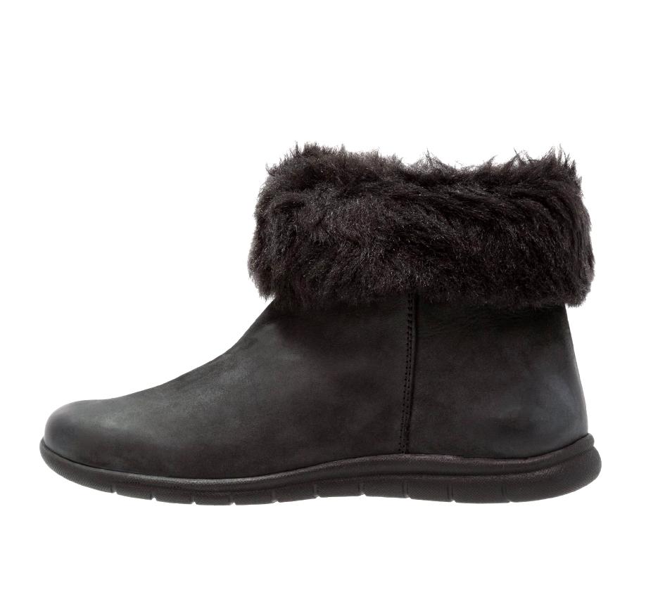Evans Annie para Mujer UK 6 6 6 EEE Extra Ancho Ajuste ribete de piel de cuero negro botas al tobillo  distribución global