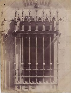 Finestra E Grille Da L'Hotel Maury ? Ferro Forgiato Troyes Francia Vintage Ca