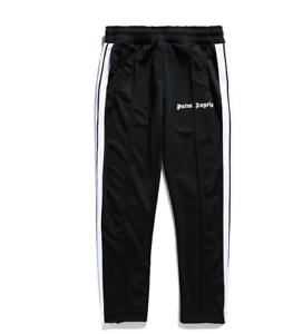 Unisex PALM ANGELS Three-bar zippered foot trousers drawstring Sport Pants