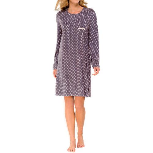 Schiesser femme chemise de nuit sleepshirt gris rose 90 cm exclusif