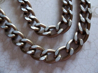 Lightweight Gold Finish Aluminum Chunky Curb Chain 9 X 10mm Links - 30 inches