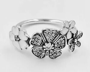 b6701785d Image is loading New-Authentic-Pandora-Shimmering-Bouquet-Ring-190984CZ-W-