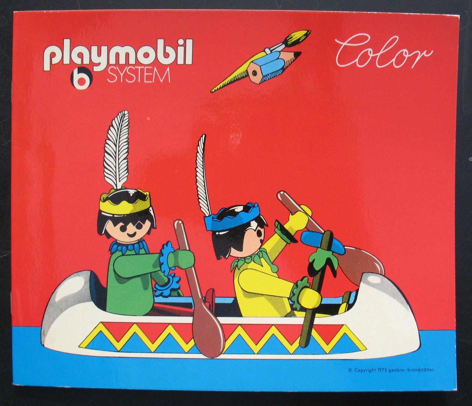 PLAYMOBIL Couleur-Western Livre de Couleuriage-peints-Couleuring Book - 1975 influents