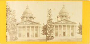 Francia Parigi il Pantheon, Foto Stereo Vintage Albumina PL62L5
