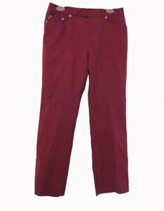 WINE Sueded Express Pants Juniors Size 7 8 Moleskin Slacks Trousers Casual Jeans