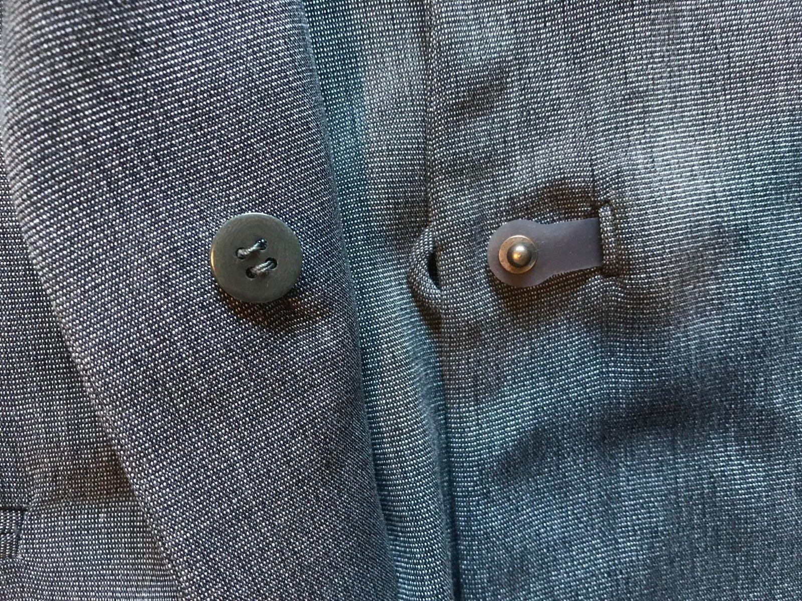 Giorgio Armani Grey Unlined Blazer Blazer Blazer with Plastic Toggle - Size 44 993bd6