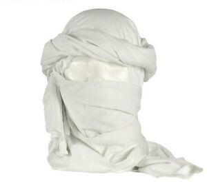 Cheche-coton-blanc-etat-neuf-neige-hiver-chech-chech-shech-foulard-echarpe