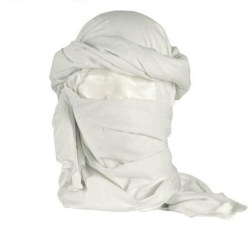 chech chèch shèch foulard écharpe Chèche coton blanc état neuf neige hiver