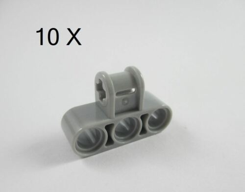LEGO Technic 6 x Axle and Pin Connector Perpendicular Triple Light Grey