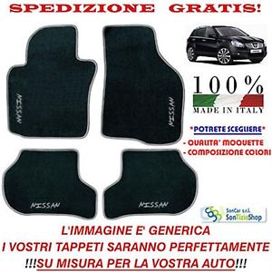Scegli Colori e Qualità! Tappeti Nissan Qashqai Tappetini Auto Personalizzati