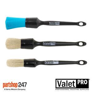 Valet Pro Sash Detailing Brush / Alloy Wheel Brushes - Set Of 3