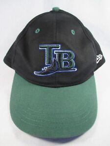 2022c881 Image is loading Tampa-Bay-Rays-New-Era-Black-Adjustable-Baseball-