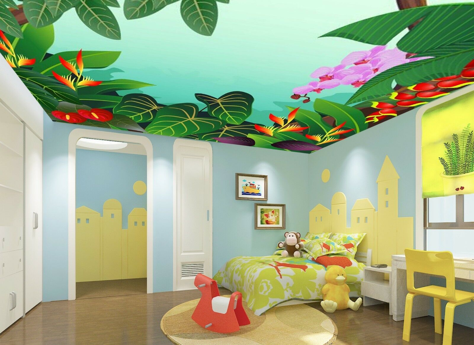 3D Tropical Plants 78 Wall Paper Wall Print Decal Wall Deco AJ WALLPAPER Summer