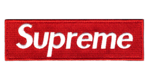 """5"""" RED Supreme Embroidered Iron on Fashion Hyperbeast Patch"""