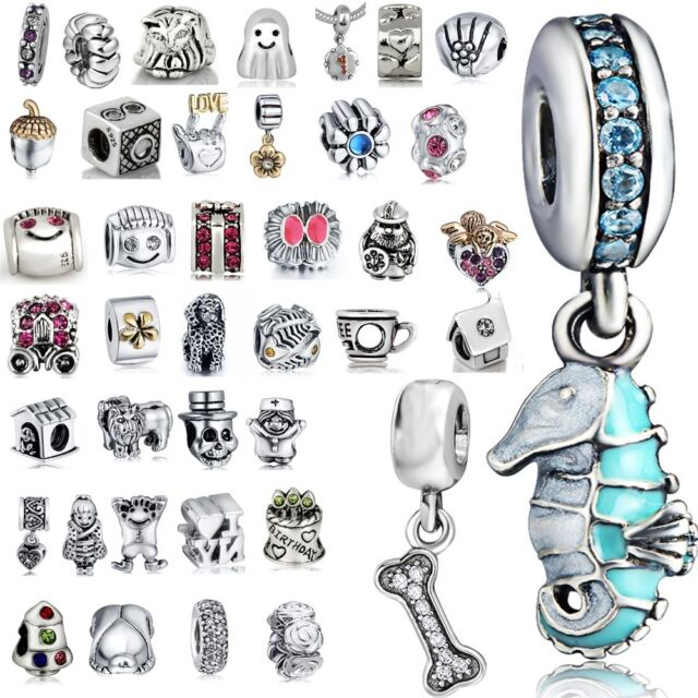 Gold plated Space European Charms Beads Fit 925 Sterling Silver Bracelets Chains