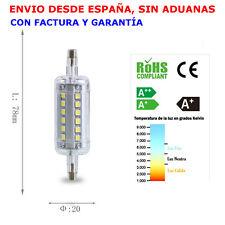 Bombilla Lámpara R7s LED 7W 700 lúmens 78mm. Blanco Neutro 4200K Ángulo 360º