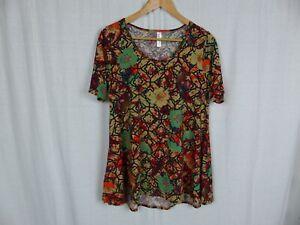 LuLaRoe-Perfect-T-Shirt-Women-039-s-Printed-Short-Sleeve-Tee-Tunic-Casual-Size-Small