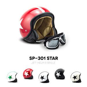SOXON-SP-301-STAR-CASQUE-MOTO-JET-DEMI-JET-HELMET-SCOOTER-RETRO-PILOT-XS-XL