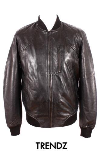 Black vera New Giacca Style morbida Nboz agnello in di Men's pelle Bomber Classic C5RTOwq