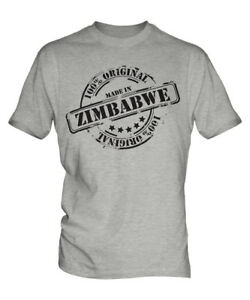 MADE IN ZIMBABWE MENS T-SHIRT GIFT CHRISTMAS BIRTHDAY 18TH 30TH 40TH 50TH 60TH