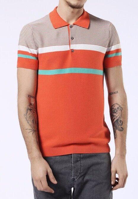 Men's DIESEL Multi color Sweater Short sleeve casual Size Medium           C9