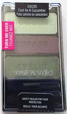 Wet n Wild Eye Shadow Palette Trio # 382B Cool As A Cucumber! Green Shadows!