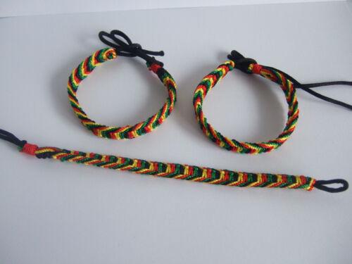 1pcs Amitié Bracelet Surfer Hippy Boho Bracelet coton soie Reggae Jamaïque
