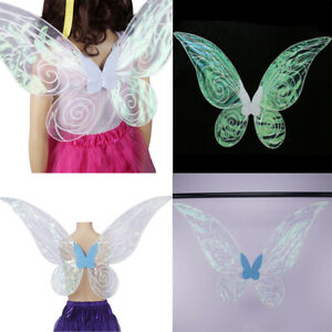 Adults-Kids-Women-Girls-Color-Changing-Butterfly-Angel-Fairy-Wing-Party-Costume