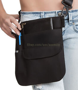Quality-Black-Money-Pouch-apron-w-Adjustable-Shoulder-Sling